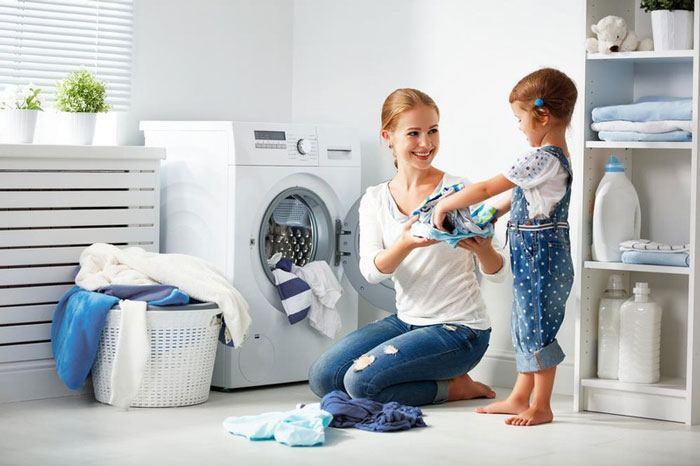 Mẹo nhỏ khử mùi máy giặt hiệu quả